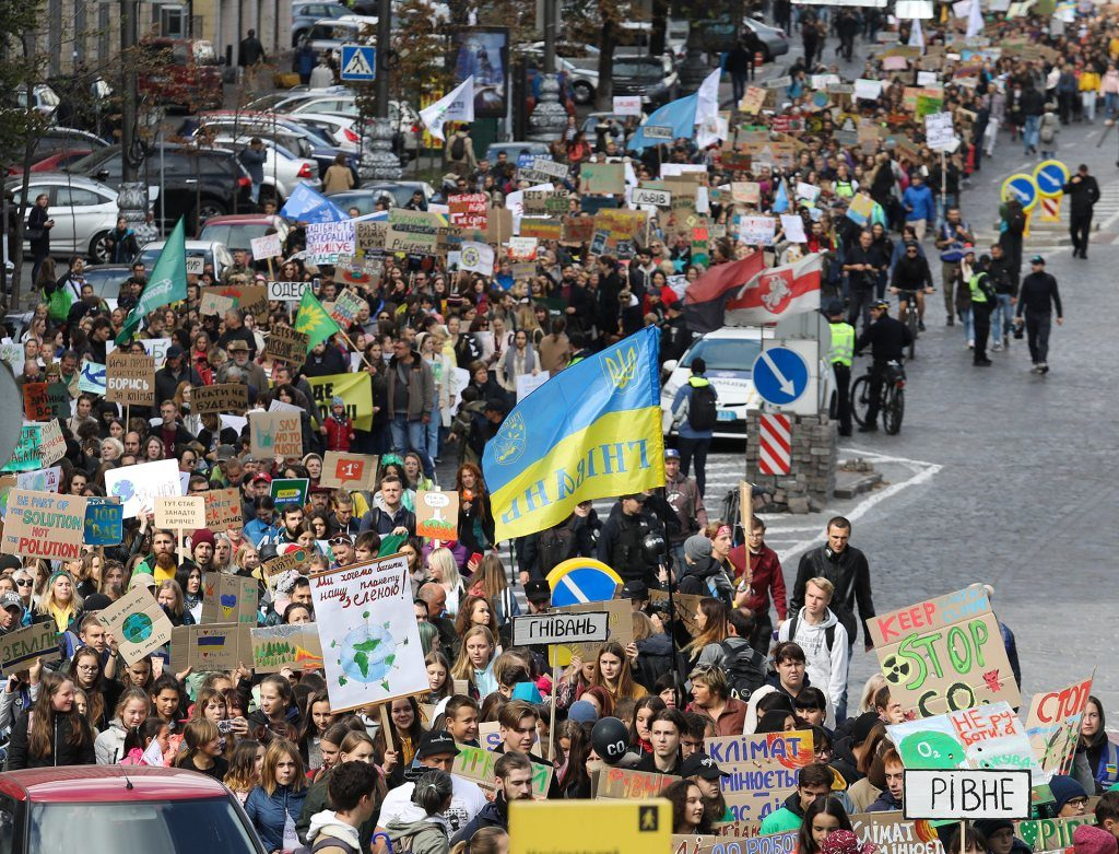 Climate march 2020 in Ukraine