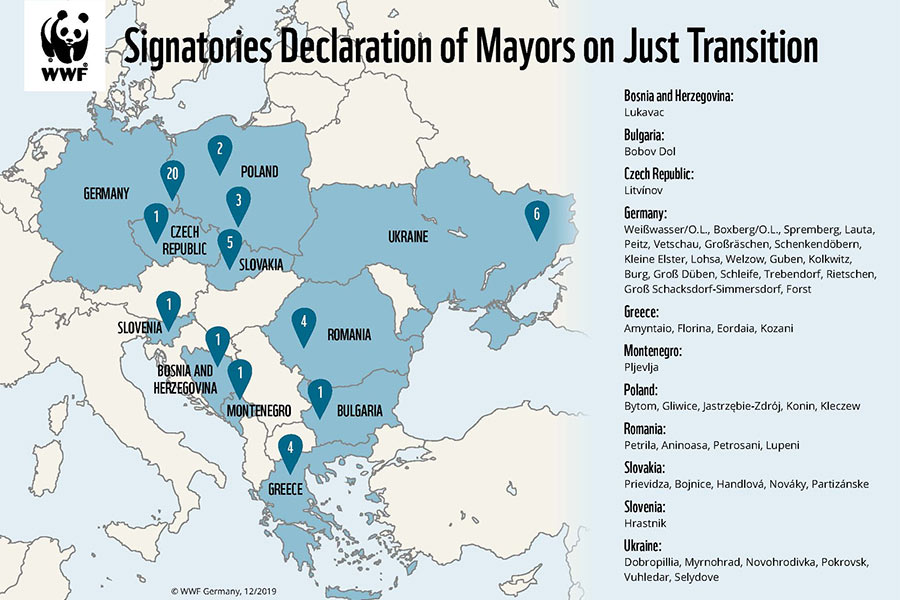 Ukraine sign declaration of mayors on just transition